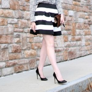 Xhiliration Cupcake Pleated Black & White Skirt